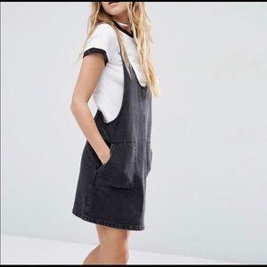 ASOS denim pinafore dress